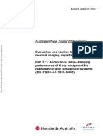 As NZS 4184.3.1-2002 Evaluation and Routine Testing in Medical Imaging Departments Acceptance Tests - Imaging