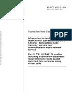 As NZS 4229.5-1994 Information Technology - International Standardized Profile TAnnnn - Connection-Mode Trans