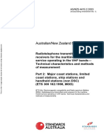 As NZS 4415.2-2003 Radiotelephone Transmitters and Receivers for the Maritime Mobile Service Operating in The