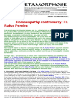 Homoeopathy Controversy and Fr Rufus Pereira