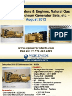 Diesel Generators & Engines, Caterpillar XQ2000 Power Modules, Natural Gas Engines, Petroleum Generator Sets, etc. - August 2012