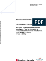 As NZS 61000.4.16-2002 Electromagnetic Compatibility (EMC) Testing and Measurement Techniques - Test for Immu