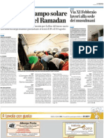 """Articoli da La Provincia sulla polemica """"moschea a Cantù"""" (dal 27 luglio al 7 agosto 2012)"""