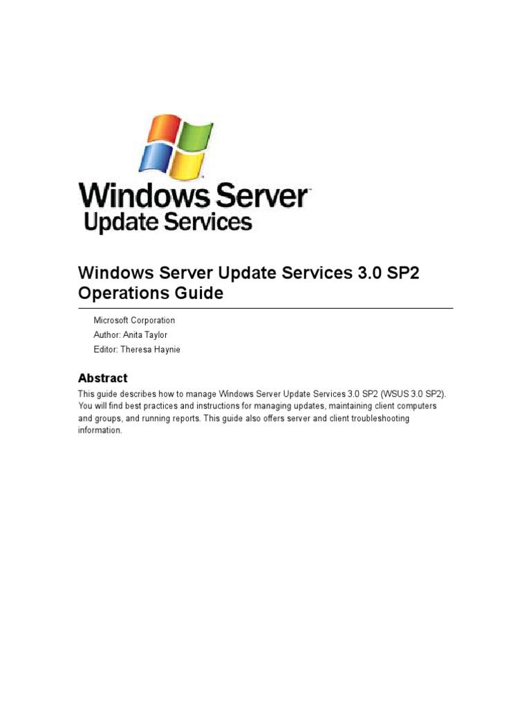 WSUSOperGuide | Internet Information Services | Microsoft