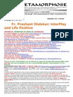 Fr Prashant Olalekar-Interplay and Life Positive