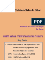 Rights of Children- Status in Bihar