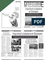 Versión impresa del periódico El mexiquense 7 agosto 2012