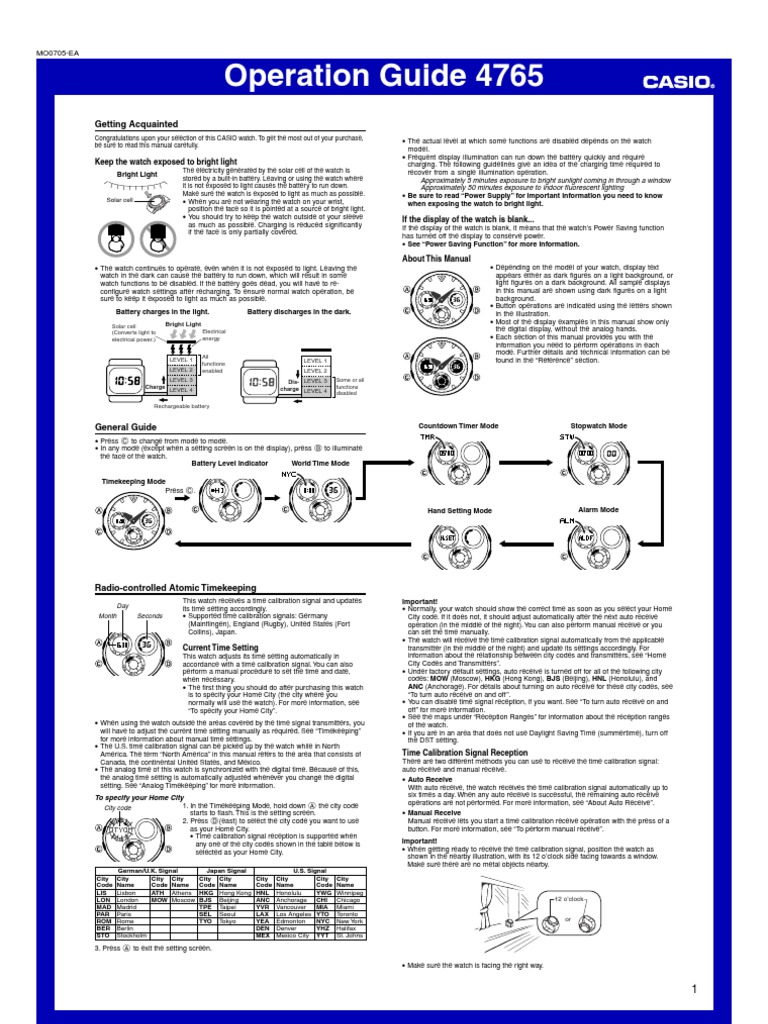 Manual Casio Mens G Shock Awg100 1a Solar Atomic Analog Watch