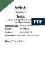 Logistics of Maruti Suzuki