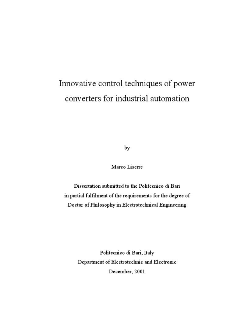 Thesis phd traction power