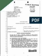 12-J-10703 Petranovich California State Bar ORDER