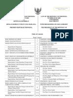 UU No.30 Tahun 2009 Ttg Ketenagalistrikan