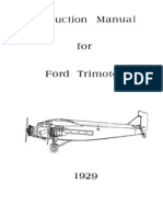 Instruction Manual - Ford Trimotor (Aircraft) (1929) WW