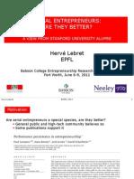 BCERC-Stanford Serial Entrepreneurs-Lebret -2012
