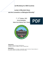 The tourism potential and impacts in protected mountain areas