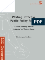Writing Effective Public Policy Papers Young Quinn