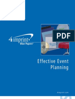 Blue Paper Effect Event Planning