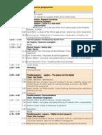 Eva London 2012 Conference Programme