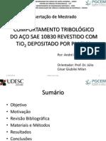 APRESENTAÇÃO DISSERTAÇÃO ANDRÉ LUIZ LEITE
