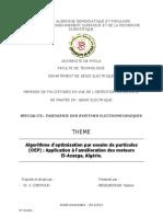 Optimisation par essaim de particules OEP