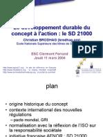 DD - Historique Et Sd21000_Brodhag
