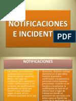 Notificaciones e Incidentes