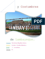 Mitos y Costumbres de Lambayeque.
