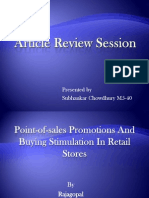 Article Review Session retail stores
