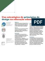 Uso estratégico de princípios de design na educação odontológica