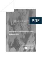 Reussir Le Test Tage Mage Annales Nouvelle Edition Fev 2008