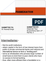 Intermediation &Regulation of MF