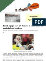 Brasil apaga no 2º tempo e está fora do handebol em Londres