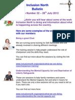 Inclusion North Bulletin 22