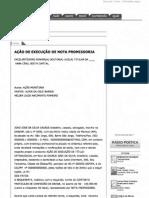 AÇÃO DE EXECUÇÃO DE NOTA PROMISSORIA
