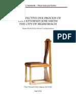 The Defective Process of Miami Beach City Attorney Jose Smith