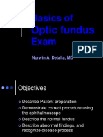 Basics of Funduscopy