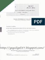 Reading Muet July 2012