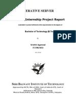 SBIT Summer Training Project Report