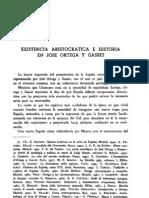 Existencia aristocrática e historia en José Ortega y Gasset