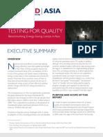 USAID/Asia, Testing for Quality