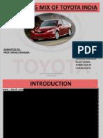 24337762 Marketing Mix of Toyota India