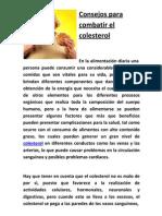 Consejos para combatir el colesterol
