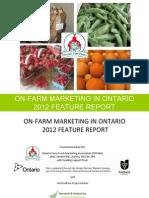 On-Farm Marketing in Ontario 2012