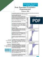 Panorama Económico Departamental - Febrero 2011