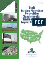 Draft surplus plutonium disposition Supplemental environmental impact statement
