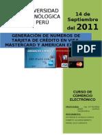 Generacion de Numeros de Trajetas de Credito