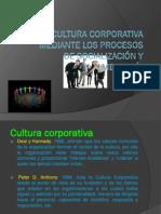 cultura corporativa mediante los procesos de socialización