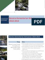 Renstra Kementerian Kehutanan 2010-2014