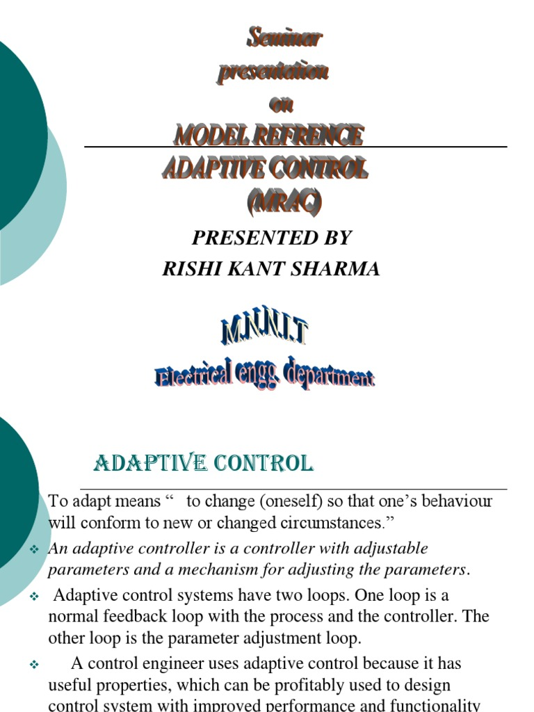 model refrence adaptive control presentation by rishi control rh scribd com Adaptive Solutions St. Louis Adaptive Solutions St. Louis