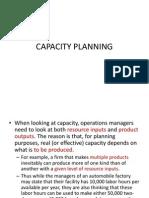 Capacity Planning New